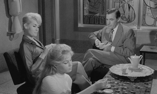 Jenny resents her distant father (David Farrar) and her new French stepmother (Noelle Adam) in Edmond T. Greville's Beat Girl (1959)