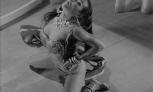 Pascaline performs one of the exotic dance routines in Edmond T. Greville's Beat Girl (1959)