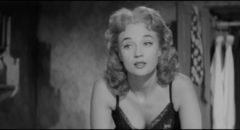 Sylvia Syms is touching as the talent-challenged Maisie in Val Guest's Expresso Bongo (1959)