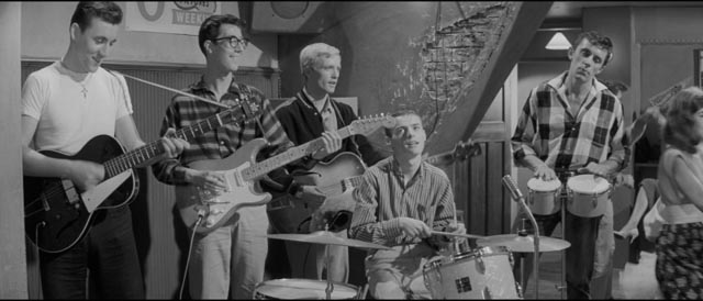 Cliff Richard's back-up group The Shadows also appear in Val Guest's Expresso Bongo (1959)