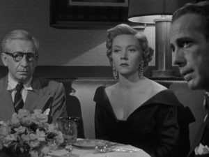 Paranoia and suspicion are rife as Dix believes he has been betrayed by those closest to him in Nicholas Ray's In a Lonely Place (1950)