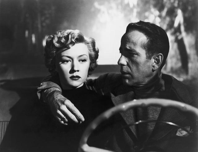 Gloria Grahame becomes aware of Humphrey Bogart's potential for violence in Nicholas Ray's In a Lonely Place (1950)