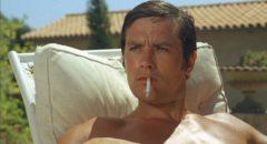 Alain Delon as writer Jean-Paul in Jacques Deray's La Piscine (1969)