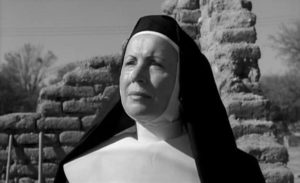 Mother Maria (Lilia Skala) snares Homer with her unshakable faith in Ralph Nelson's Lilies of the Field (1963)