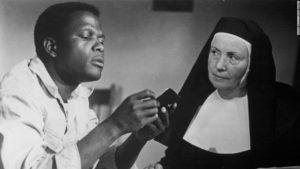 Sidney Poitier (with Lilia Skala) gives an Oscar-winning performance in Ralph Nelson's Lilies of the Field (1963)