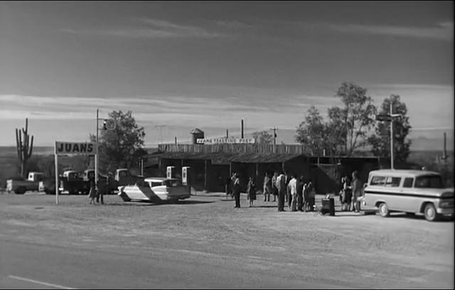 Father Murphy's church-on-wheels in rural Arizona in Ralph Nelson's Lilies of the Field (1963)
