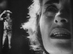 One of George Kuchar's optical effects in Curt McDowell's Thundercrack! (1975)