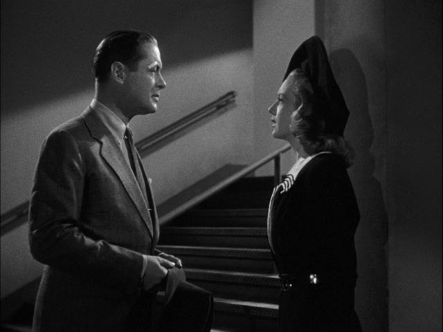Bette meets boxing champ K.O. Murdoch and finds him strangely familiar in Alexander Hall's Here Comes Mr. Jordan (1941)