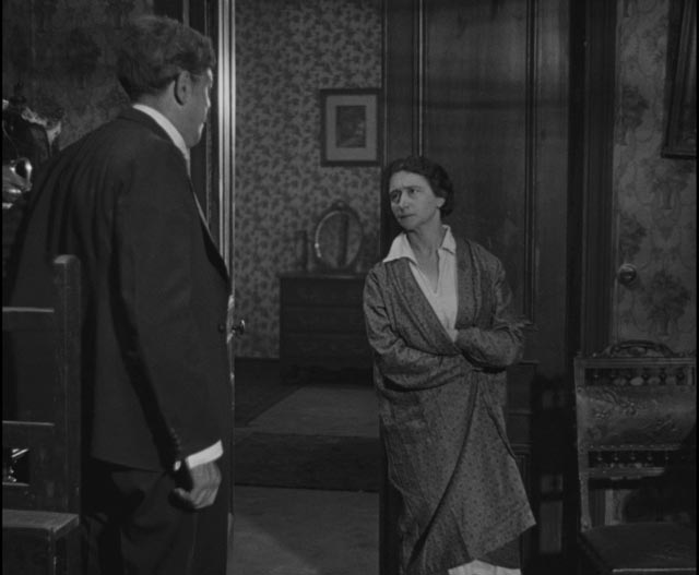 Maurice Legrand (Michel Simon) gets no respect at home from his bitter wife Adele (Magdeleine Berubet) in Jean Renoir's La Chienne (1931)