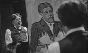 Maurice Legrand (Michel Simon) works on a self-portrait in Jean Renoir's La Chienne (1931)
