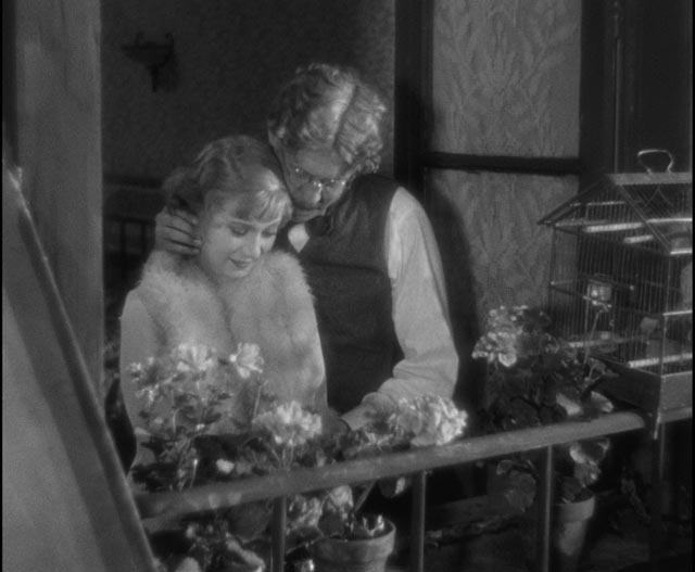 Legrande (Michel Simon) enjoys his illusory idyll with Lulu (Janie Marese) in Jean Renoir's La Chienne (1931)