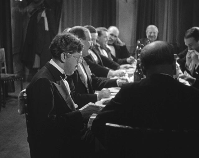 Maurice Legrand (Michel Simon), an outsider even in company in Jean Renoir's La Chienne (1931)