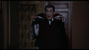 Robert Quarry as the vampire in Bob Kelljan's The Return of Count Yorga (1971)
