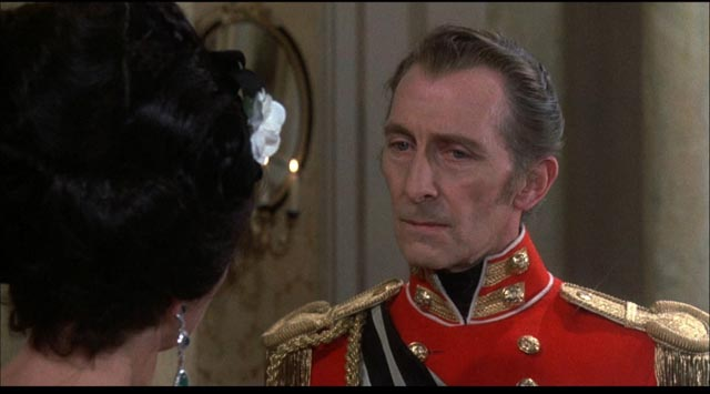 Peter Cushing again, here as the determinedly patriarchal General von Spielsdorf in Roy Ward Baker's The Vampire Lovers (1970)