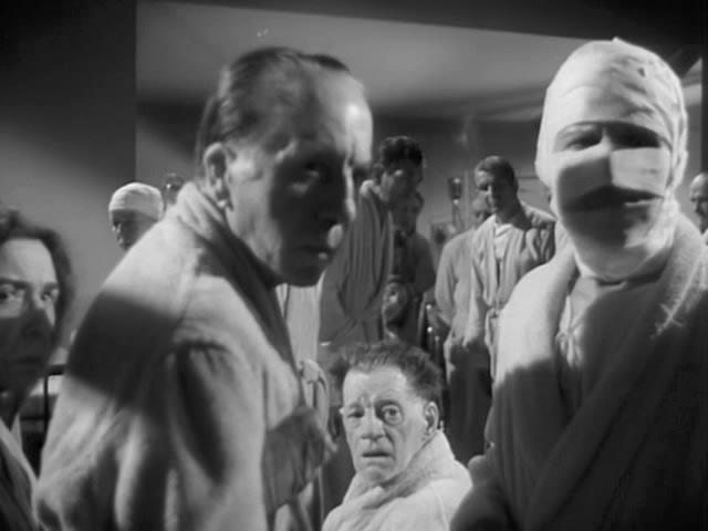 The victims of former Nazi, now Communist Dr. Bucholtz's germ warfare experiments in William Cameron Menzies' The Whip Hand (1951)