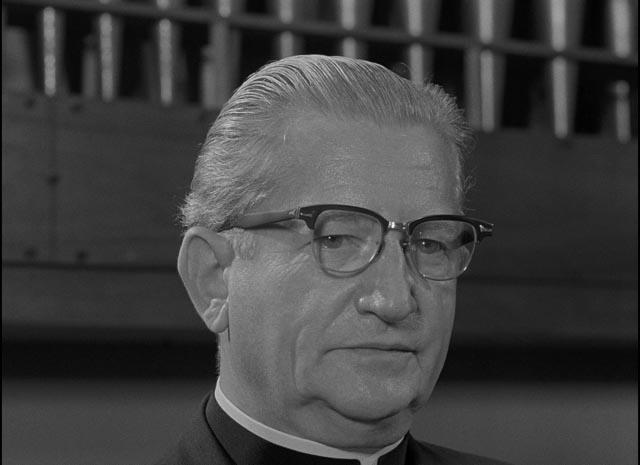 The smug face of patriarchy: Mary's new boss (Art Ellison) in Salt Lake City in Herk Harvey's Carnival of Souls (1962)