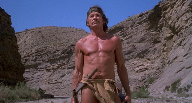 Charles Bronson establishing himself as an iconic figure of vengeance in Michael Winner's Chato's Land (1972)