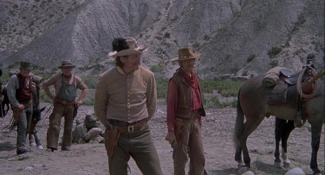 Capt. Whitmore (Jack Palance) tries to control the unruly posse in Michael Winner's Chato's Land (1972)