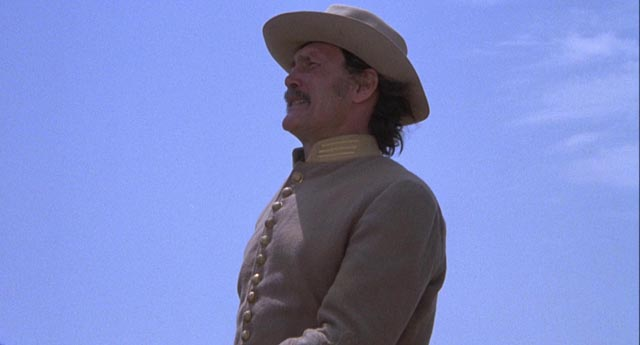 Capt. Quincy Whitmore (Jack Palance) tries to recapture his former stature by leading the posse in Michael Winner's Chato's Land (1972)