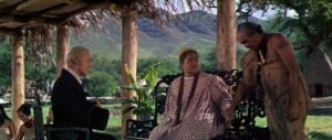 Reverend Hale (Max von Sydow) tells Malama Kanakoa (Jocelyne LaGarde) that her deep love for her husband/brother Telolo (Ted Nobriga) is a sin in George Roy Hill's Hawaii (1966)