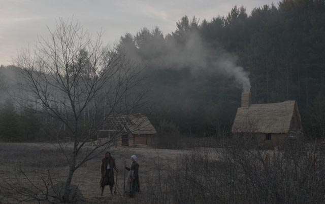 At the edge of a primal world: the settlers' cabin in Robert Eggers' The Witch (2015)