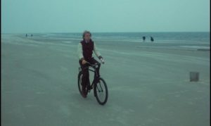 Wilhelm Meister (Rudiger Vogler) aimlessly searching for the motivation to write in Wim Wenders' Wrong Move (1975)