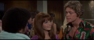Dolly Read (Kelly MacNamara) is enthralled by Hollywood narcissist Lance Rocke (Michael Blodgett) in Russ Meyer's Beyond the Valley of the Dolls (1970)