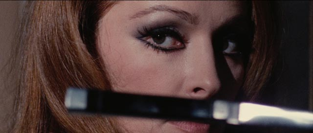 Nieves Navarro, aka Susan Scott, in Luciano Ercoli's Death Walks on High Heels (1971)