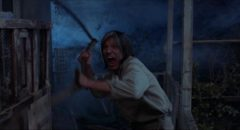 Neville Brand as crazed hotel owner Judd in Tobe Hooper's Eaten Alive (1976)