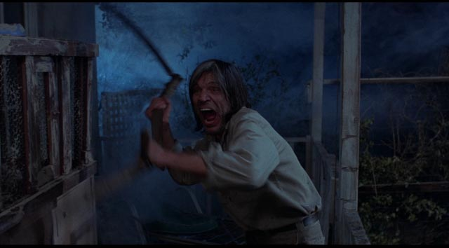 Neville Brand as crazed hotel owner Judd in Tobe Hooper's Eaten Alive (1976)