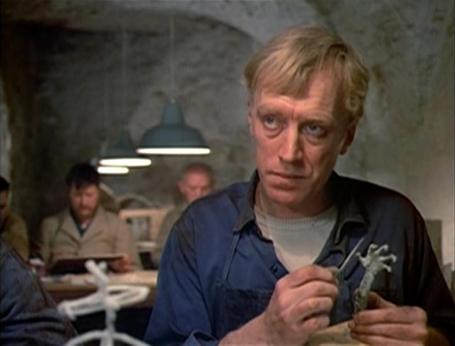 Max von Sydow as Salem, wrongly imprisoned in a gloomy insane asylum in Laslo Benedek's The Night Visitor (1971)