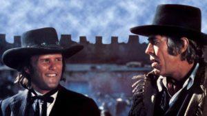 Kris Kristofferson and James Coburn in Sam Peckinpah's Pat Garrett & Billy the Kid (1973)
