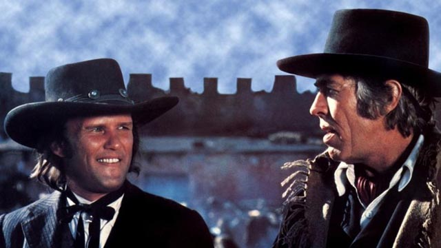 Kris Kristofferson and James Coburn in Sam Peckinpah's Pat Garrett & Billy the Kid (1973)