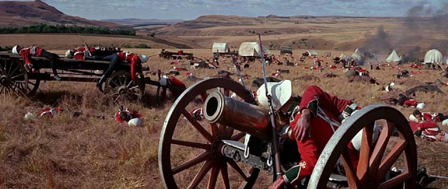 The aftermath of the battle at Isandhlwana at the start of Cy Endfield's Zulu (1964)