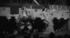 Kikunosuke Onoe (Shôtarô Hanayagi) performing the role of Sumizome in Kenji Mizoguchi's The Story of the Last Chrysanthemum (1939)