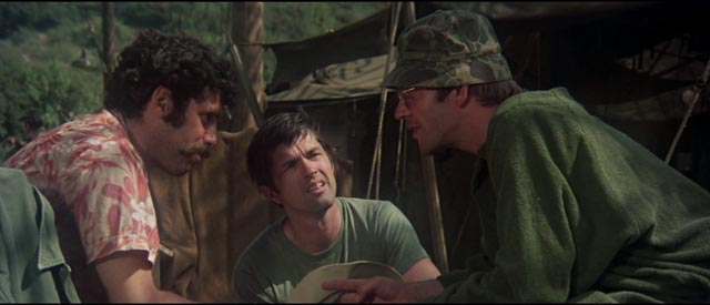 Elliott Gould, Tom Skerrit and Donald Sutherland as the anti-authoritarian surgeons in Robert Altman's M*A*S*H (1970)