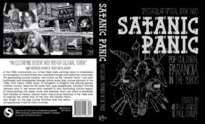 The cover of FAB Press' Satanic Panic: Pop Cultural Paranoia in the 1980s