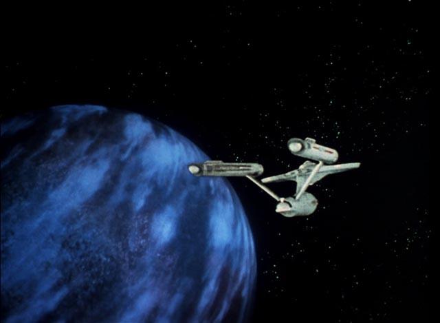 An original effects shot from season one of Star Trek: The Original Series ...