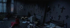 Demons and poltergeists plague a single-parent family in London in James Wan's The Conjuring 2 (2016)