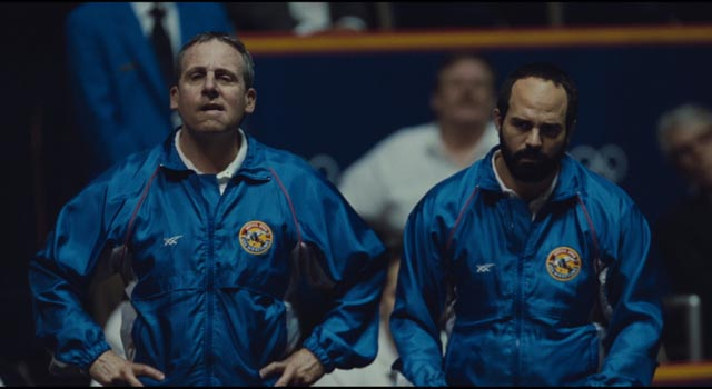 Steve Carell and Mark Ruffalo in Bennett Miller's Foxcatcher (2014)