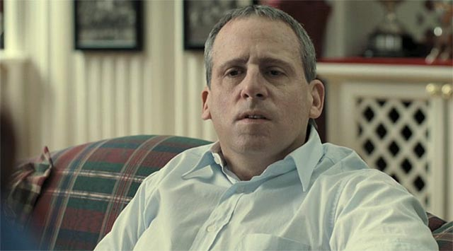 Steve Carell as John du Pont, deranged by privilege, in Bennett Miller's Foxcatcher (2014)