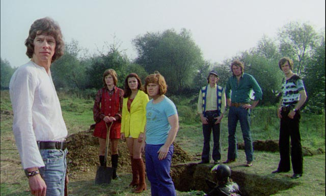 Bikers turn hippie for a sensitive funeral among the standing stones in Don Sharp's Psychomania (1973)
