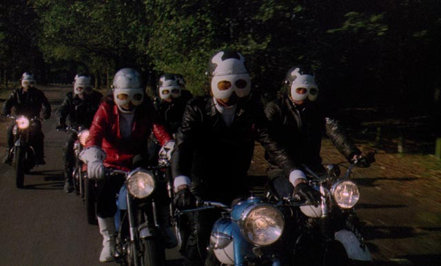 Biker gang the Living Dead, looking for kicks in rural England in Don Sharp's Psychomania (1973)
