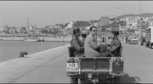 Jose Luis being taken away to prison by the Guardia in Luis Garcia Berlanga's The Executioner (1973)