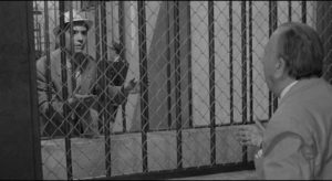 Jose Luis, trapped by his role, pleads with Amadeo to take his place in Luis Garcia Berlanga's The Executioner (1963)