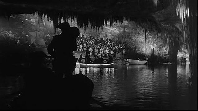 A striking image of caves in Majorca adds a surreal touch to Jose Luis' nightmare in Luis Garcia Berlanga's The Executioner (1973)