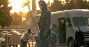 Predatory gangs kidnap and sell victims in The Purge: Anarchy (2014)