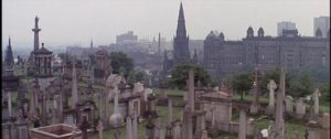 Opening shot: a city of the dead overlooking the city of the barely living in Bertrand Tavernier's Death Watch (1980)