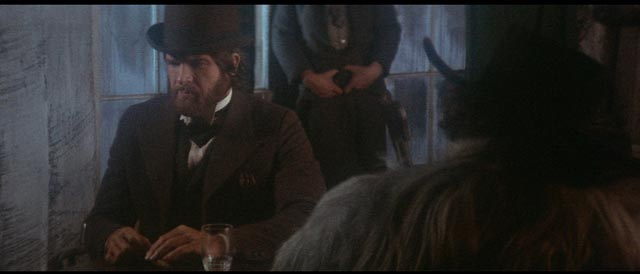 McCabe begins to realize how badly he has played his hand in Robert Altman's McCabe & Mrs Miller (1971)