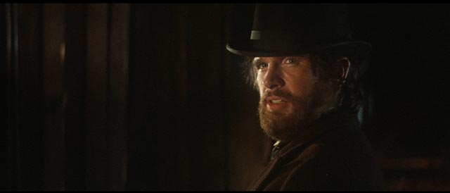 Warren Beatty in one of his finest roles, a naive and ambitious frontier businessman in Robert Altman's McCabe & Mrs Miller (1971)